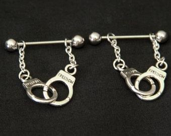 Body Jewelry, Handcuff Nipple Jewelry, Nipple Jewelry, Bar Nipple Jewelry, Piercing Nipple Jewelry, Erotic Body Jewelry, Mature Listing
