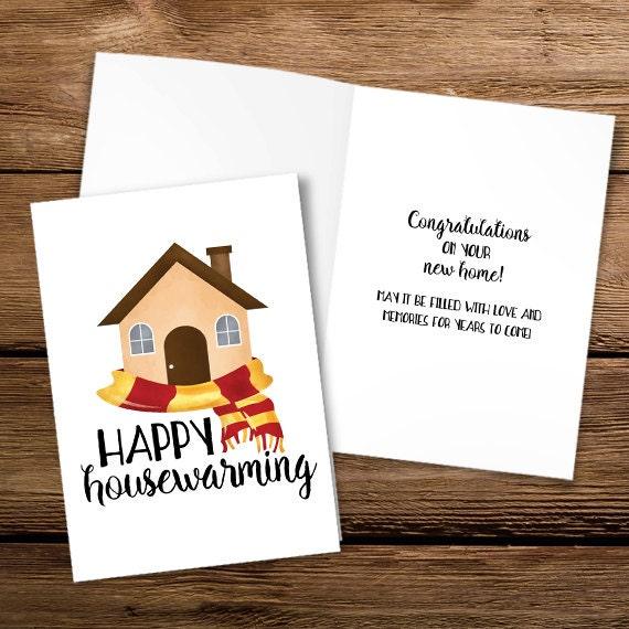Mesmerizing image regarding printable housewarming card