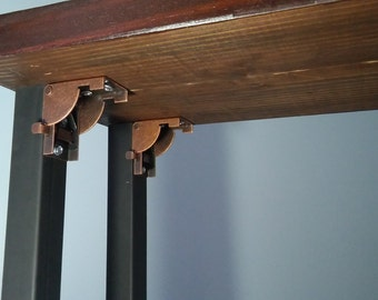 folding steel table legs restaurant table dine table legs steel set of 4 with hinges installed