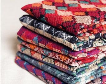 7 Pcs Fat Quarter bundle of Boho Fabric, Tribal Fabric, Handloom Cotton Nepal Dhaka, Ethnic Fabric, Gypsy Fabric, Fabric Bundle, Jacquard