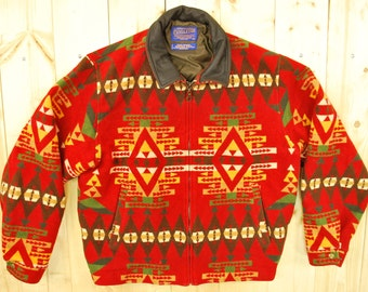 Vintage 1980's/90's PENDLETON Blanket Coat / High Grade Western Wear / Retro Collectable Rare