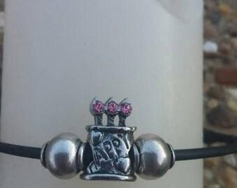 Girls Happy Birthday Charm Bracelet