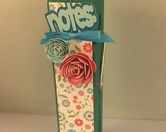 Giant Clothes pin Note Holder