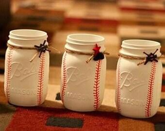 Pint Sized Baseball Mason Jar