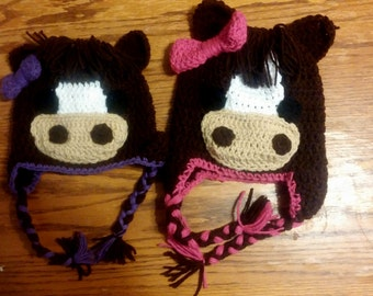 Horse Hat, Crochet, Any Color