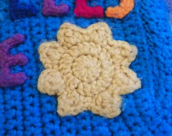 Sun Applique YELLOW Crochet
