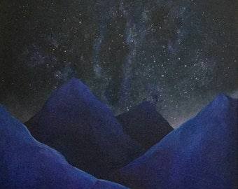 MIDNIGHT MOUNTAINS - Original Acrylic Painting