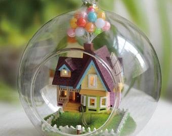 House FlyingBall Lamp Handmade Wooden DIY