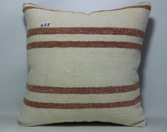 20x20 Striped Kilim Pillow Cover 20x20 Anatolia Vintage Turkish Kilim Pillow Cover decorative kilim pillow cover throw pillow Sp5050-415