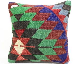 Cushion Cover 16x16 decorative pillow floor pillow Multicolour pillow geometric design Pillow throw pillow home decor boho pillow SP4040-980