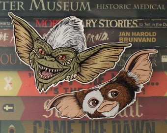 Gremlins Cut Out Sticker Gizmo and Stripe