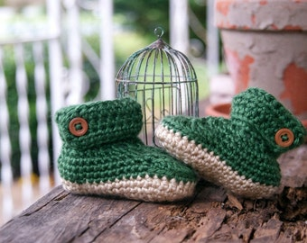 Ankle Button Baby Booties