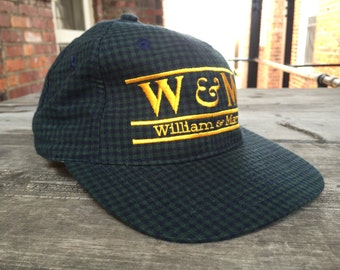 Vintage William and Mary College Pattern Low Profile Strapback