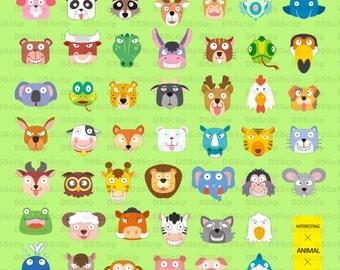 SALE - Limited Time Offer -  Adorable Animal Clip Art Set