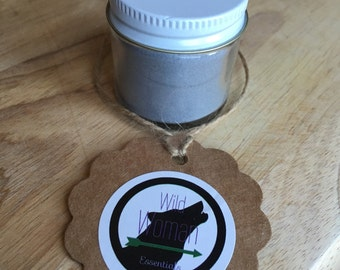 Small activated charcoal tooth powder