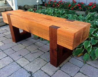 rustic wood bench outdoor patio garden bench