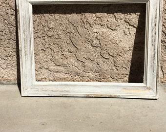 Old White Annie Sloan Distressed Picture Frame
