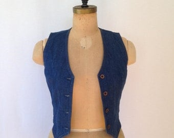 1980s denim vest by Koret City Blues