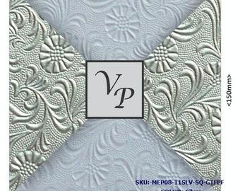 Embossed Paper,  birthday,  Pocketfold Invitation,  Rustic Invite,  Letterpress,  Glitter layer,  Sale,  Cotton Paper Card