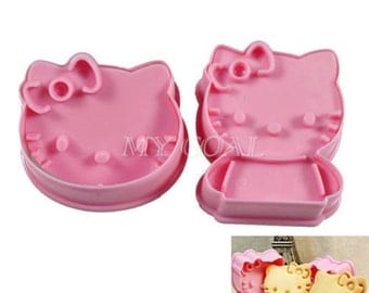 Hello Kitty Cute Cookie Cutters (2 Pack) Biscuit Clay Chocolate Mold Mould