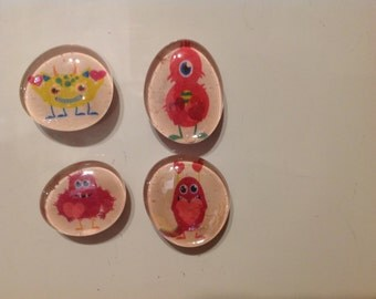 Valentines Day monster magnets