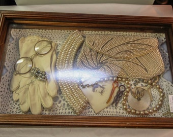 "Vintage Shadowbox ""Victorian"" Items"