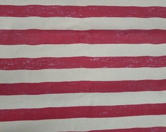 10 oz Duck Cotton - Red and White Stripes pattern