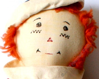 Haunted Poe Very Active! Authentic Vintage Raggedy Andy Doll w/ Cage Paranormal