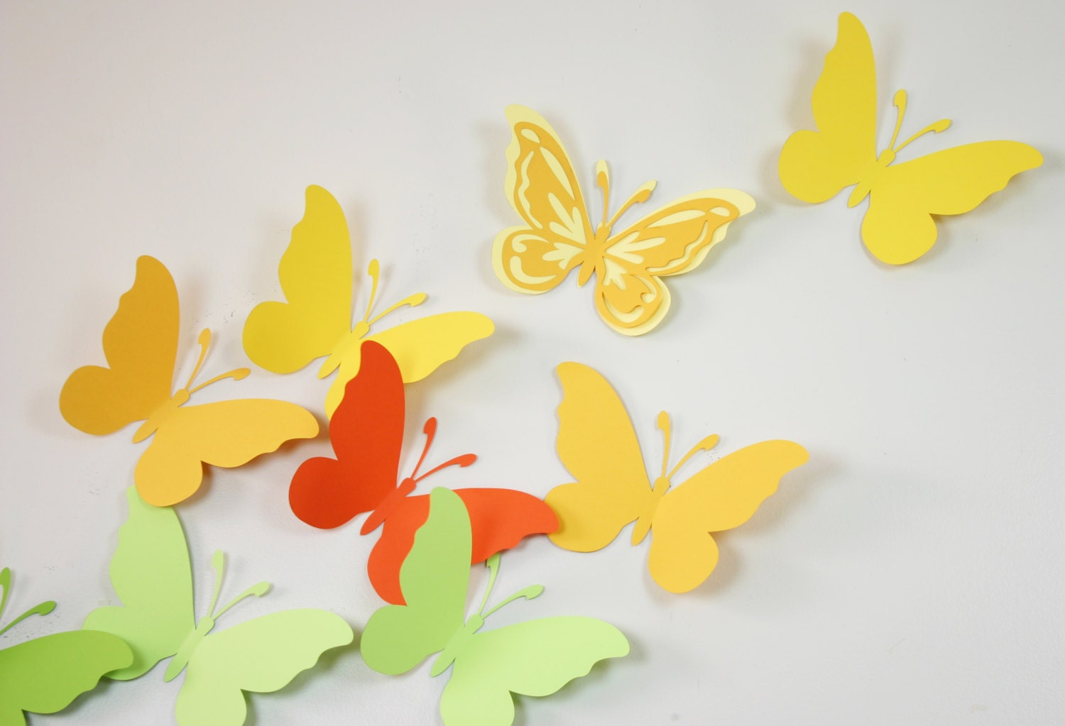 Famous 3d Paper Butterfly Wall Decor Ideas - The Wall Art ...