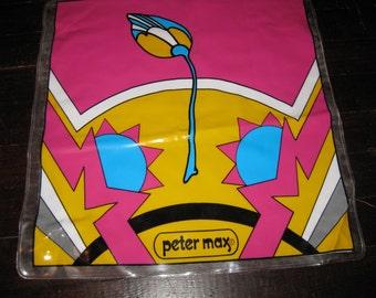 Peter Max Vinyl Blow-Up Pillow Rare Tulip Design