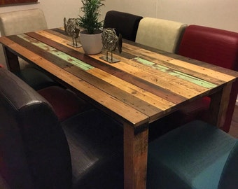 Rustic Farm Table with 8 Chairs - Shipping NOT Included