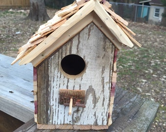 Recycled wood birch shingle roof