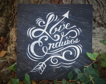 Hand Lettered Quote Wood Sign