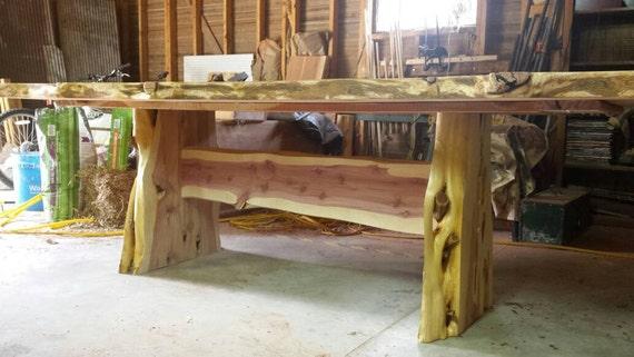 Cedar Table, Rustic Cedar Dining Table, Cedar Dining Table, Live Edge Table, Slab Style