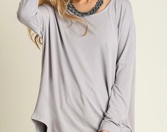 Oversized Asymmetrical Silver Tunic