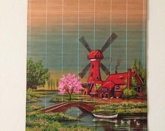 Bamboo Holland Windmill Wall Hanging