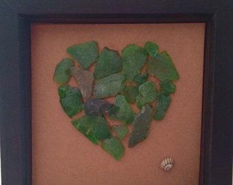Sea Glass Heart