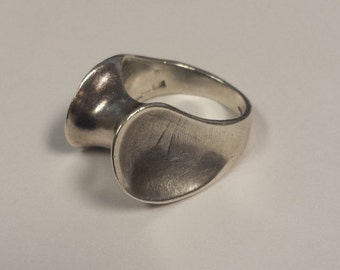 Sterling Silver .925 Artisan Ring From the Netherlands