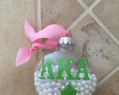 AKA Pearls N' Ivy Ornament