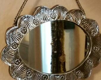 Lovely little 900 silver mirror!!