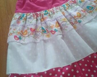 Pink Summer Layered Long Skirt.