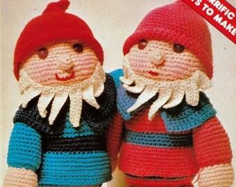 Crochet Gnome Pattern ... Soft Toy Pattern ... Elf Pixie Fairy ... PDF Crochet Pattern ... Stuffed Toy Pattern ... Digital Download
