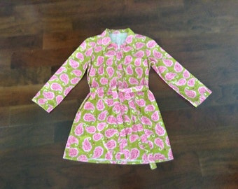 Vintage hanmade shirt dress