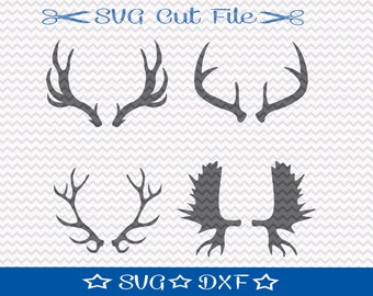 Deer Antler SVG Cut File /  Cut File for Silhouette / Animal SVG / Moose Antler SVG / Deer svg / Animal Horn svg