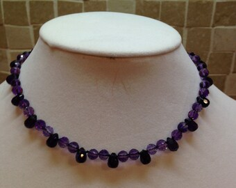 "Bling Collection - 14.5"" Amethyst Choker necklace - FREE SHIPPING!"