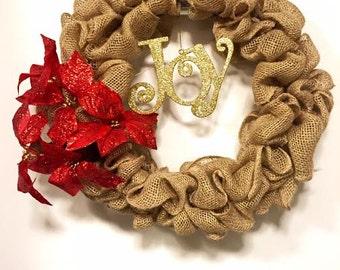 Holiday Burlap Wreath