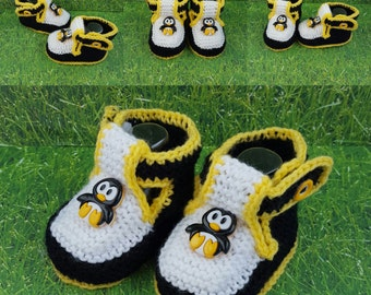 Penguin baby booties for baby gift for new mom socks for baby ,ON SALE Baby Booties, Baby Boots,gift for new baby sister gift for new baby