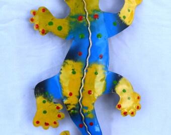 Gecko, lizard, Iguana, metal sculpture (#gkomtl302)