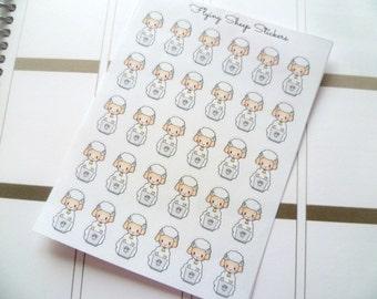 Laptop/Study/Work/Homework Emoji/Character Planner Stickers - SHEEPIE