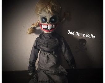 Mary lou creepy gothic ugly huge teeth horror doll
